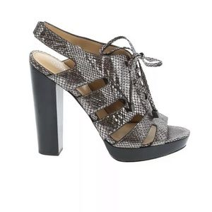 Coach Moreen Peep Toe Gladiator Platform Heels 8.5